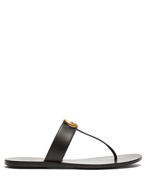 673625531 Gucci *Lifford Gg Flip Flops Sandals/Sandali Infradito Morsetto In 1000  Black