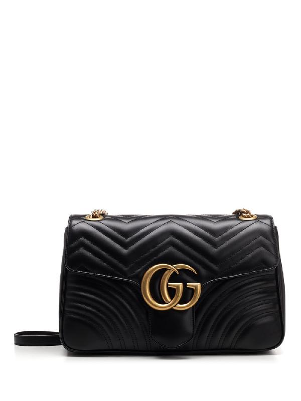 944b2c5cd72c Gucci Gg Marmont Matelassé Shoulder Bag In Black | ModeSens