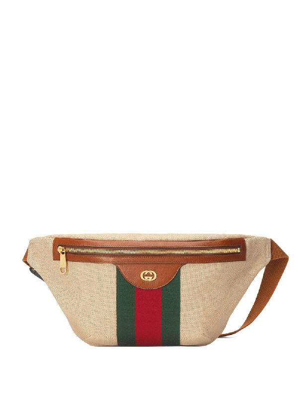 944dd1a47f70 Gucci Men's Signature Web Vintage Canvas Belt Bag In Neutrals | ModeSens