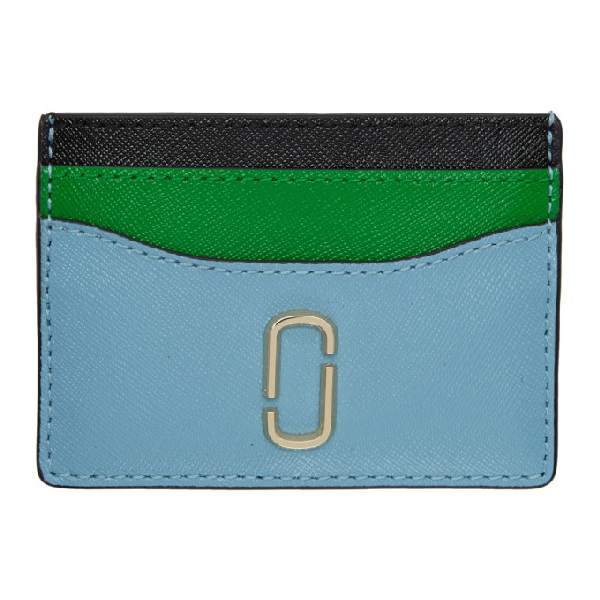 competitive price 3f066 d9b06 Marc Jacobs Blue Snapshot Card Holder in 456 Mistybl