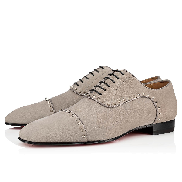 wholesale dealer a2d3f 328bc Men's Eton Spiked Suede Oxford Shoes in Gres/Silver