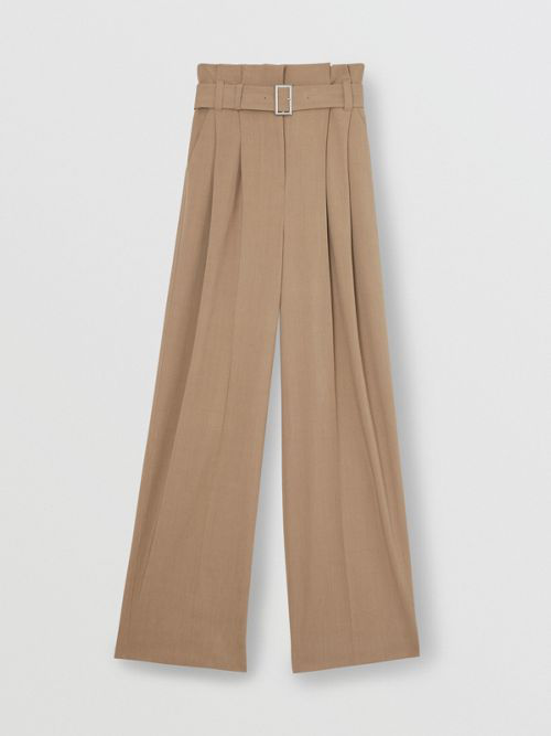 BURBERRY Wool Blend High-waisted Trousers