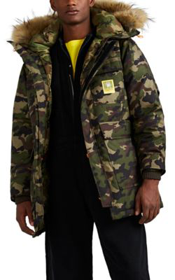 fa445b5158e5f Brumal Hooded Faux Fur-Trimmed Camouflage-Print Shell Down Parka In Army  Green