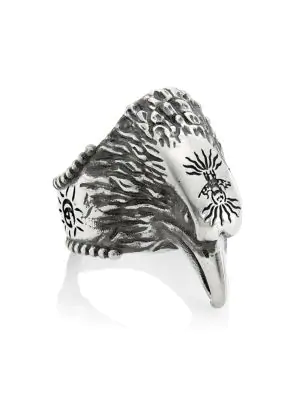 6c91abc3f Gucci Anger Forest Sterling Silver Eagle Ring | ModeSens