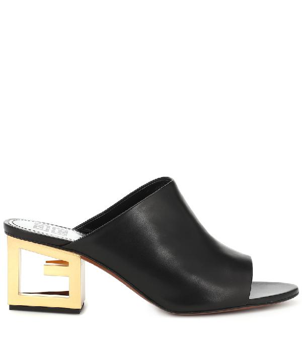 b08cfd562dc5d Givenchy Clogs 3028E0A1 Calfskin Logo Black | ModeSens