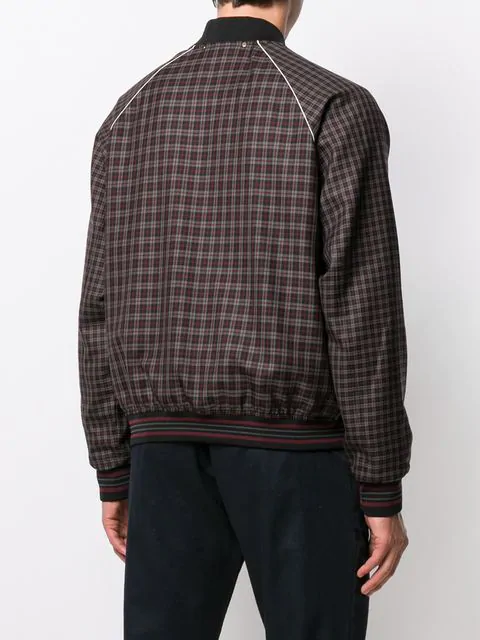 64a6d9835 Paul Smith Checkered Bomber Jacket - Farfetch in 28 Burgundy