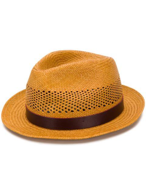 238301a7c5ca12 Paul Smith Woven Straw Fedora Hat - Farfetch In 10   ModeSens