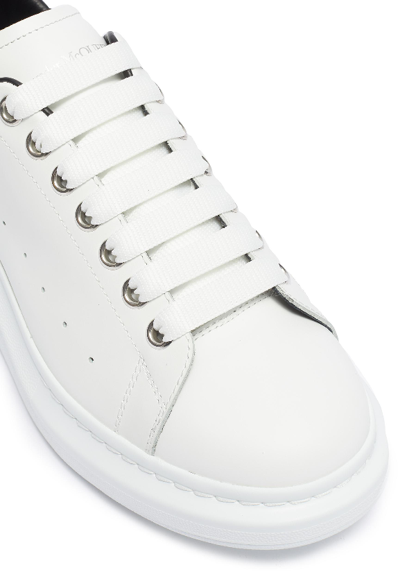 Alexander Mcqueen 'Oversized Sneaker' In Leather With Stud Collar In White