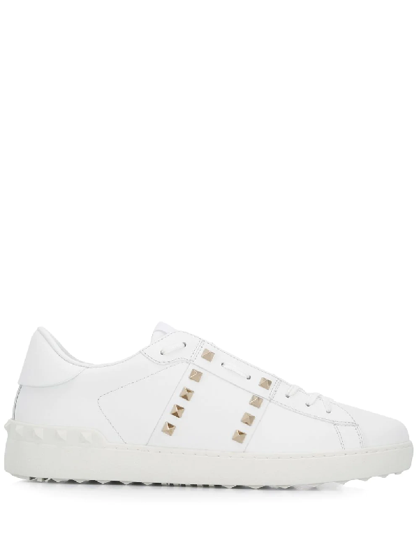 4d0cc5a23f243 Valentino Rockstud Untitled White Leather Trainers In 0Bo White ...