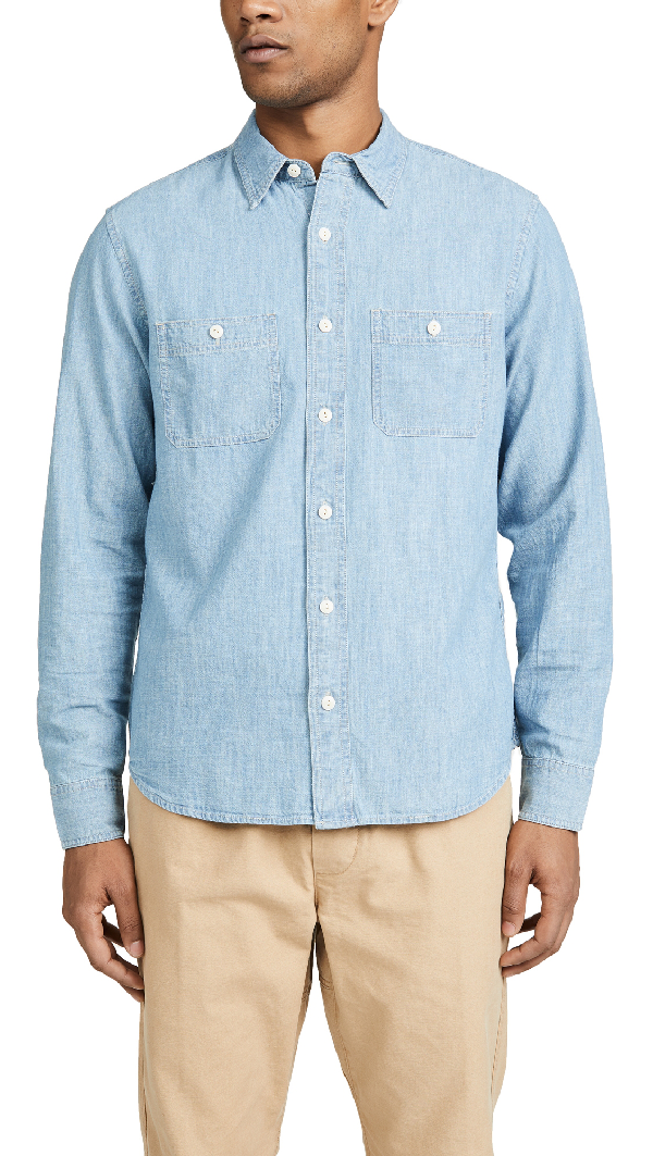 Madewell Chambray Shirt In Lessing Wash Modesens