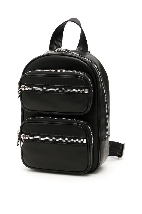 Attica Supple Nappa Leather Backpack in Black