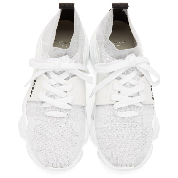 Givenchy Jaw Leather Rubber And Mesh Sneakers In White