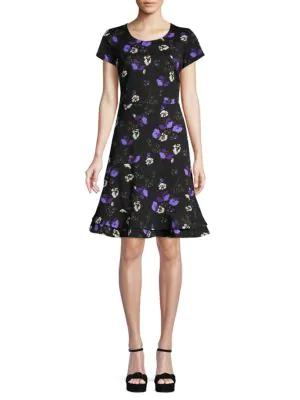 ABS BY ALLEN SCHWARTZ Floral A-Line Dress
