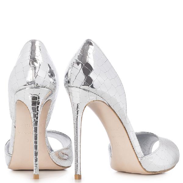 Le Silla Scarlett Open Toe 120 Mm In Silver