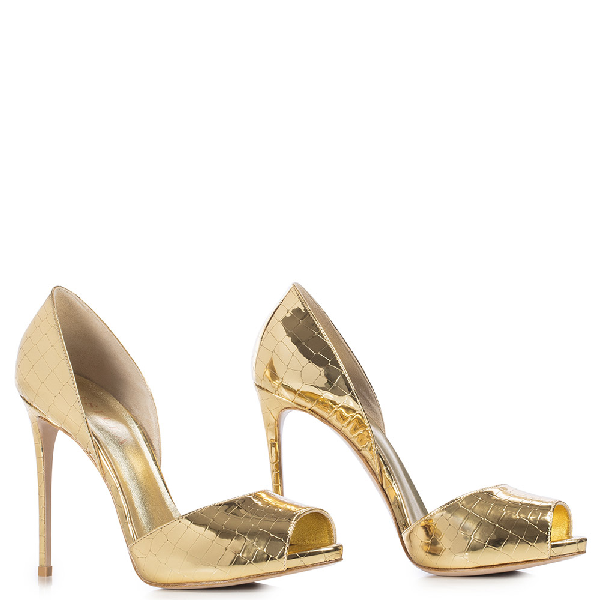 Le Silla Scarlett Open Toe 120 Mm In Gold
