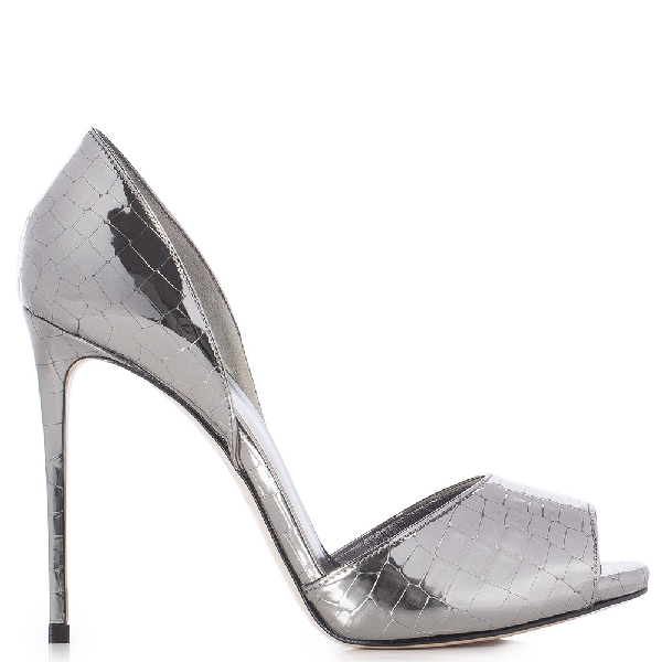 Le Silla Scarlett Open Toe 120 Mm In Dark Grey