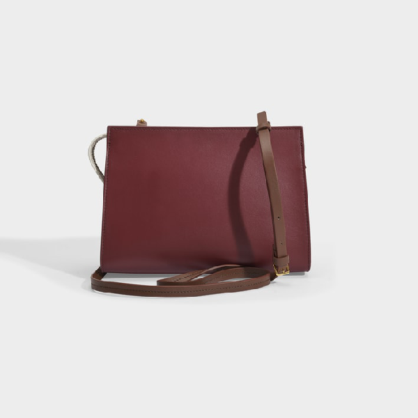 Marni   Law Crossbody Bag In Pink, Black And White Leather In Beige
