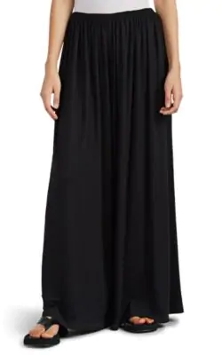 The Row Kadir Cashmere Wide-Leg Pants In Black