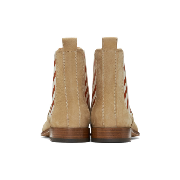 OFF-WHITE OFF-WHITE BEIGE CHELSEA BOOTS
