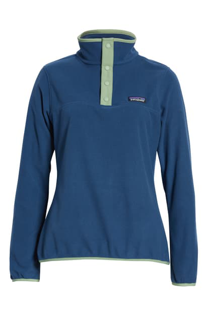 Patagonia Micro-D Snap-T Fleece Pullover In Stone Blue
