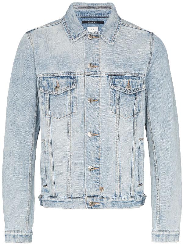 2401c9738b2c Ksubi Punk Distressed Denim Jacket - Blue | ModeSens