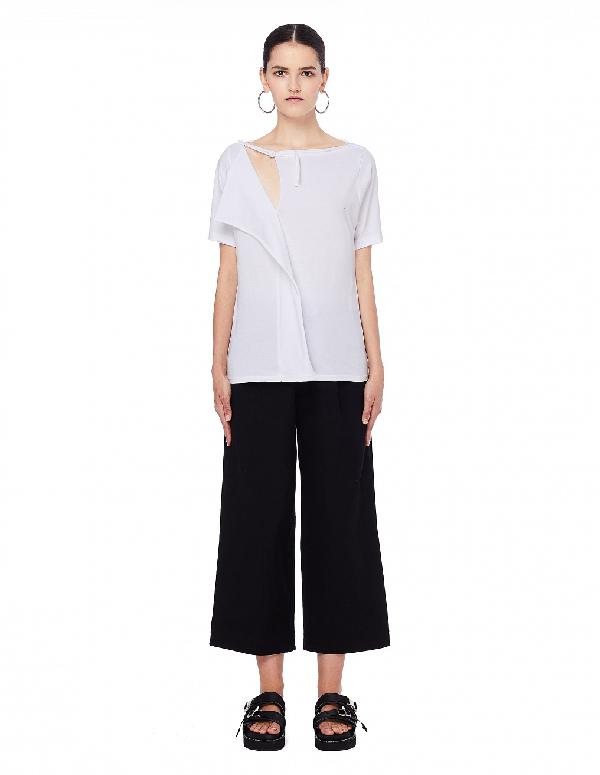 Yohji Yamamoto White Cotton T-Shirt