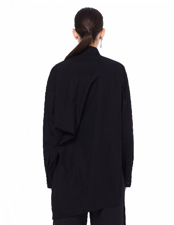Yohji Yamamoto Black Asymmetric Back Shirt