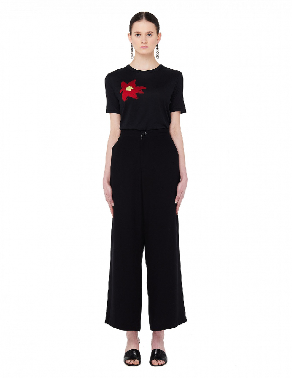 Yohji Yamamoto Black Printed T-Shirt