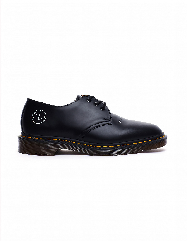 3b24fc714396 Undercover Dr. Martens 1461 Printed Leather Derby Shoes In Navy ...