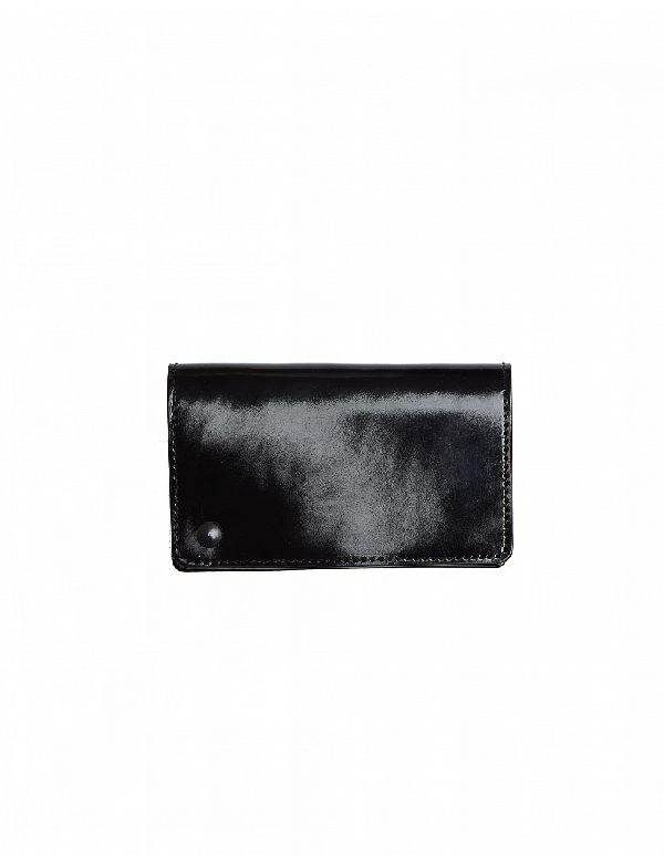 Yohji Yamamoto Polished Leather Card Holder In White