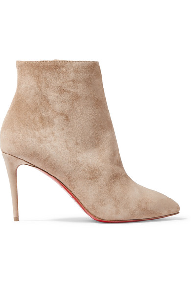 reputable site fe26a 4f767 Eloise 85 Nocciola Suede Ankle Boots in Beige