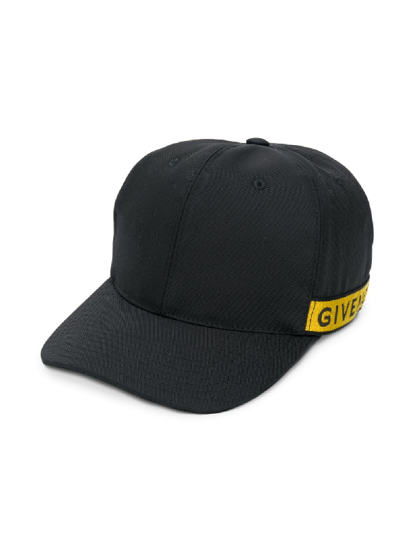 Givenchy Logo-Trimmed Canvas Baseball Cap In Black