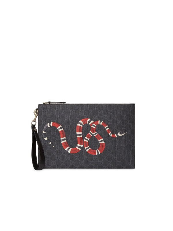 557ff2b669 Gg Pouch With Kingsnake in 1058 Gg Black