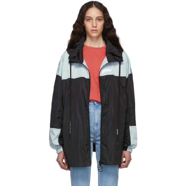 OFF-WHITE OFF-WHITE BLACK AND SILVER UNFINISHED WINDBREAKER