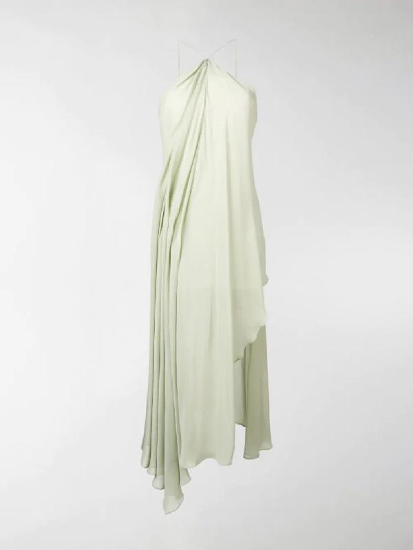 Jacquemus La Robe Spiaggia Halter Dress In Green