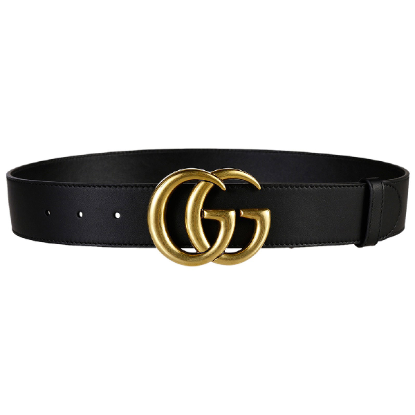 Gucci Double G Brass Buckle Reversible Textured Leather Belt 1.5W Black/Brown