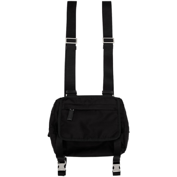 62a7fcda53 Prada Black Nylon Harness Backpack | ModeSens