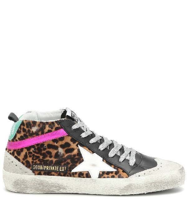 14a7b76d08ec Golden Goose Exclusive To Mytheresa - Mid Star Calf Hair Sneakers In  Multicoloured