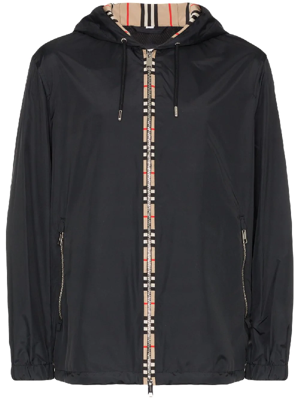 b3c7211d8 Burberry Icon Stripe Detail Jacket In Black   ModeSens