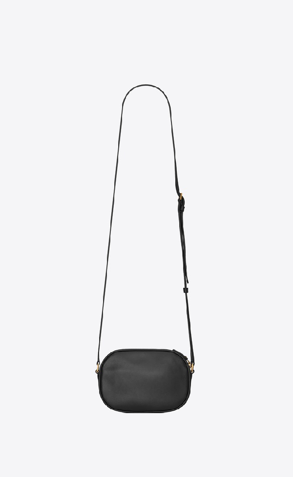 ca78ae077e4 Saint Laurent Le 61 Camera Bag In Smooth Leather In Black | ModeSens