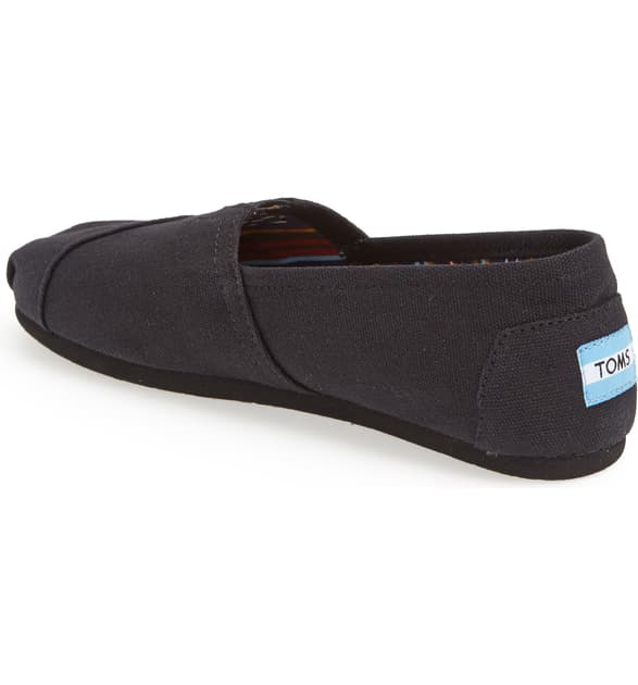 Toms Classic Canvas Slip-On In Black/Black