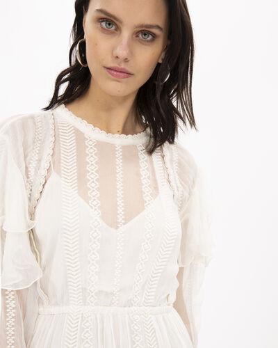 Iro Western White Viscose Dress In Ecru
