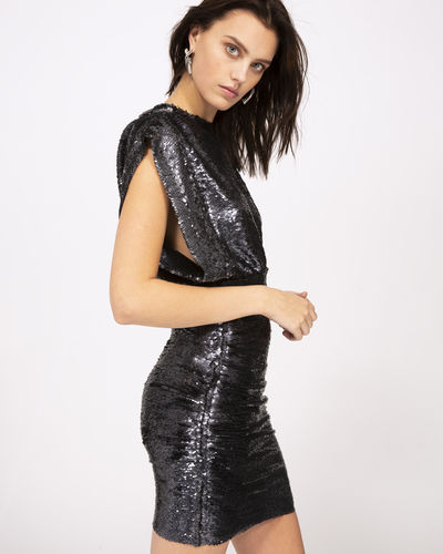 Iro Miracle Dress In Anthracite