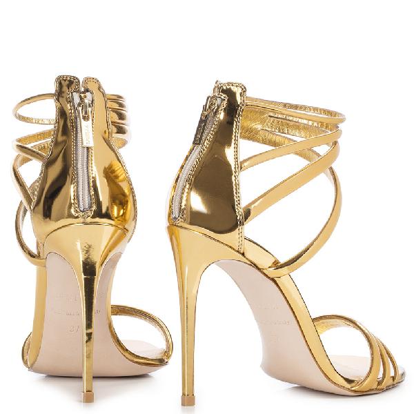 Le Silla Denise Sandal 110 Mm In Gold