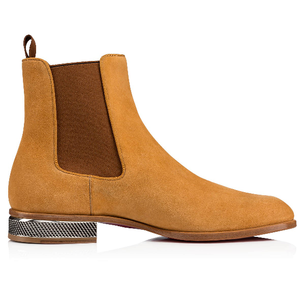 d8b77673316 Men's Samsocool Red Sole Chelsea Boots in Beige