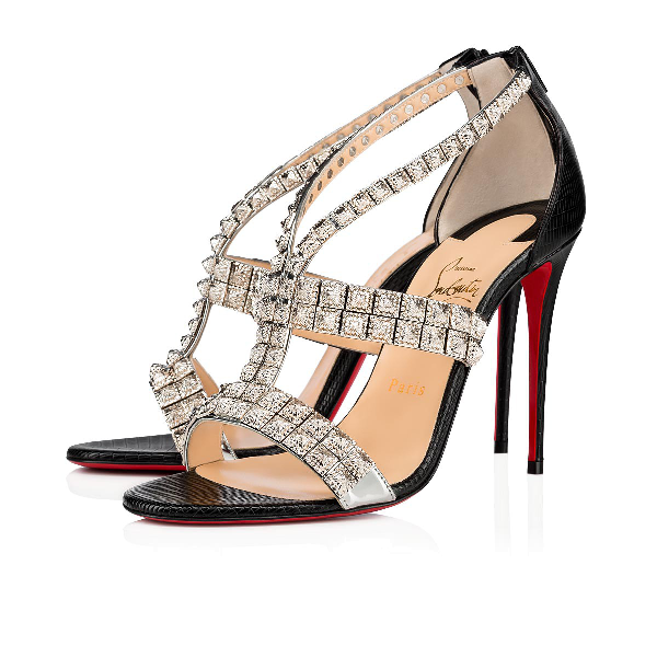 online retailer 68882 1a432 Diwali Strappy Studded Sandal in Version Silver/Black