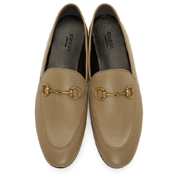 Gucci Jordaan Loafers In Mud