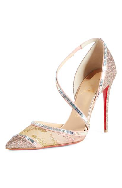 a9a7eeb69a4a6 Christian Louboutin Chiara Embellished Pointy Toe Pump In Multi Glitter