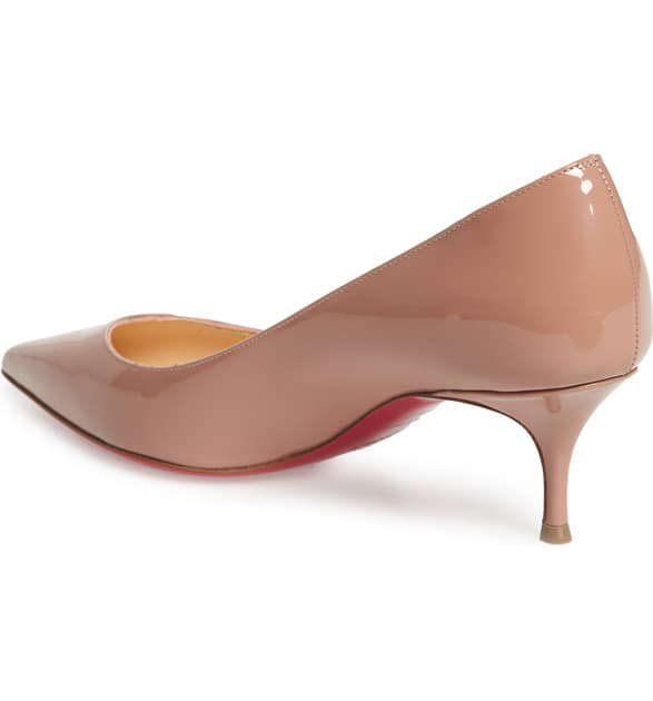 43d969fd2e1 Pigalle Follies 55Mm Patent Red Sole Pump, Nude in Baby Pink