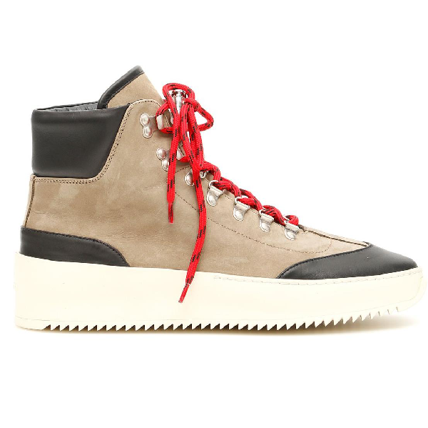 Fear Of God 6Th Collection Hiker Suede High-Top Sneakers  In Neutrals
